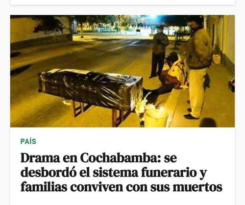 [캐나다 밴쿠버통신] 코로나19 3만5천여명 확진 볼리비아 처참한 소식